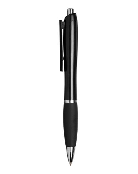 branded domed curvy ballpoint pen-bk