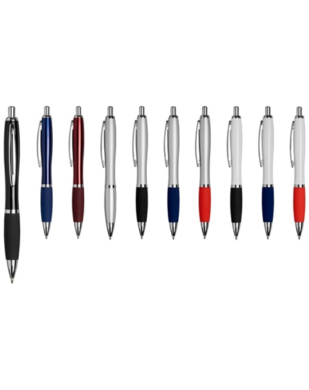 branded metal curvy ballpoint pen-bk