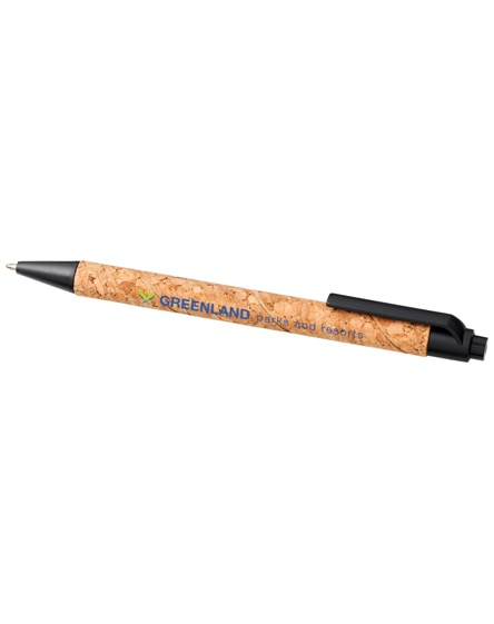 branded midar cork and wheat straw ballpoint pen