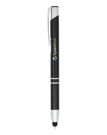branded moneta anodized aluminium click stylus ballpoint pen