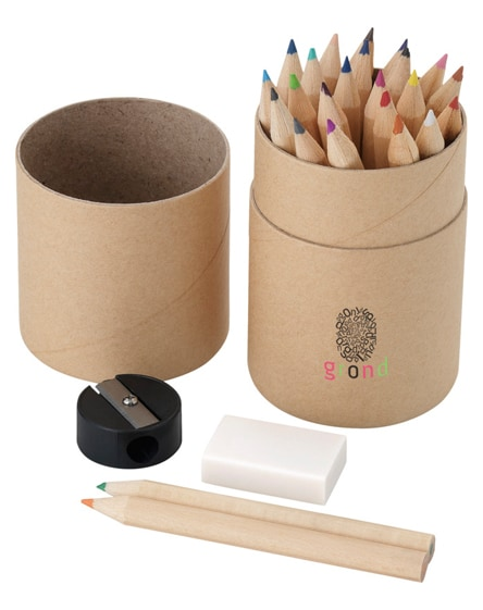 branded woodby 26-piece coloured pencil set