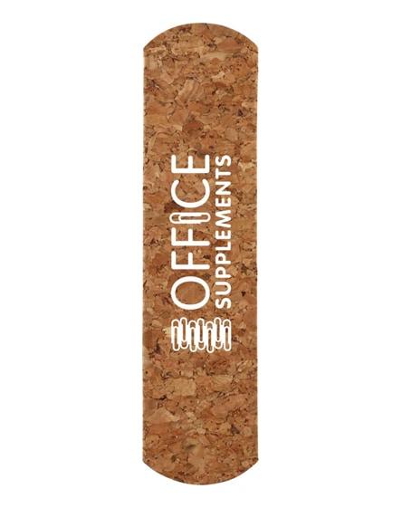 branded temara cork and paper pen sleeve