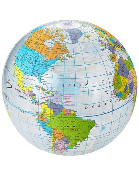 branded globe transparent beach ball
