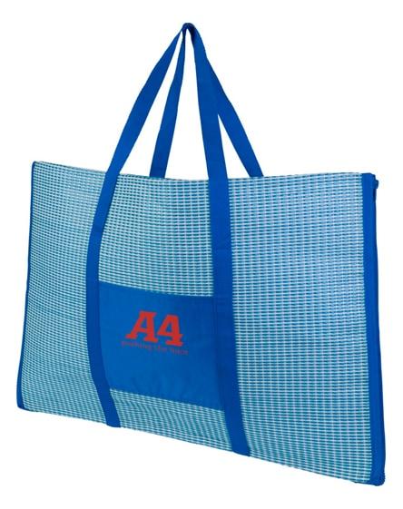 branded bonbini foldable beach tote and mat