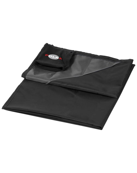 branded stow-and-go water-resistant picnic blanket