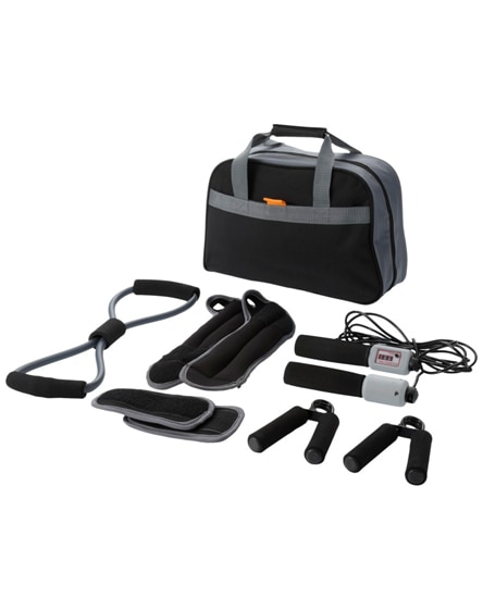 branded go-fit 9-piece fitness kit
