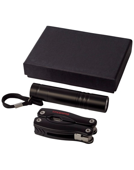 branded scout multi-function knife and led flashlight set