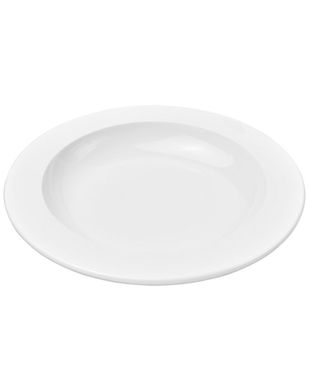 branded pax round plastic plate