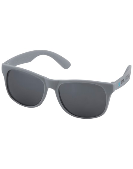 branded retro single coloured sunglasses