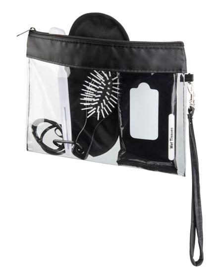 branded sid seethrough travel pouch