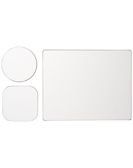 branded brite-mat mouse mat and coaster set combo 1
