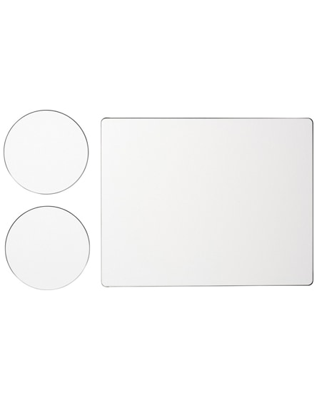 branded brite-mat mouse mat and coaster set combo 2