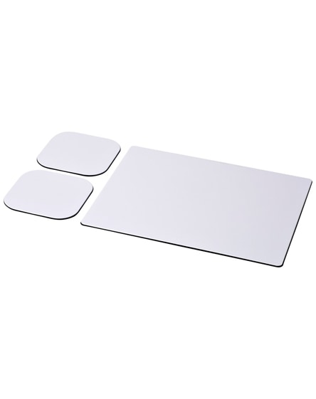 branded brite-mat mouse mat and coaster set combo 3