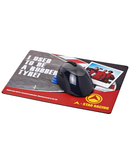 branded brite-mat mouse mat with tyre material