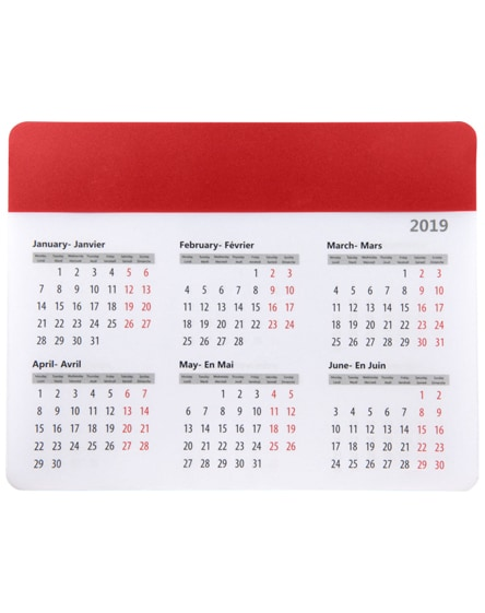 branded chart mouse pad with calendar