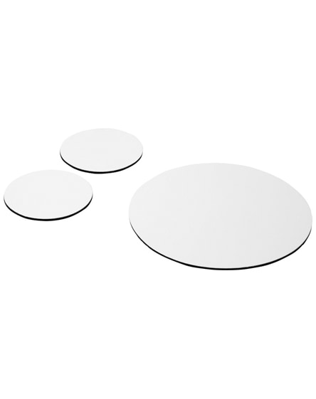 branded q-mat mouse mat and coaster set combo 5