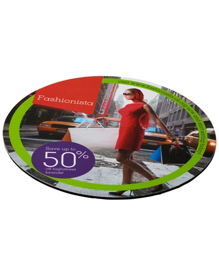 branded q-mat round mouse mat