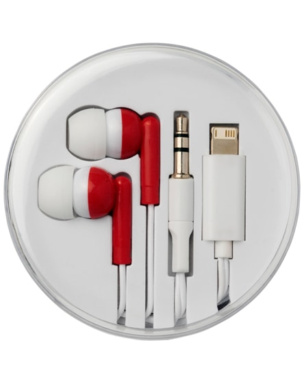 branded switch earbuds with multi tips