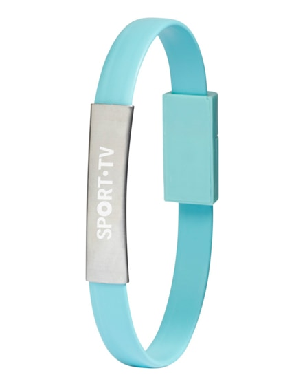 branded bracelet 2-in-1 charging cable