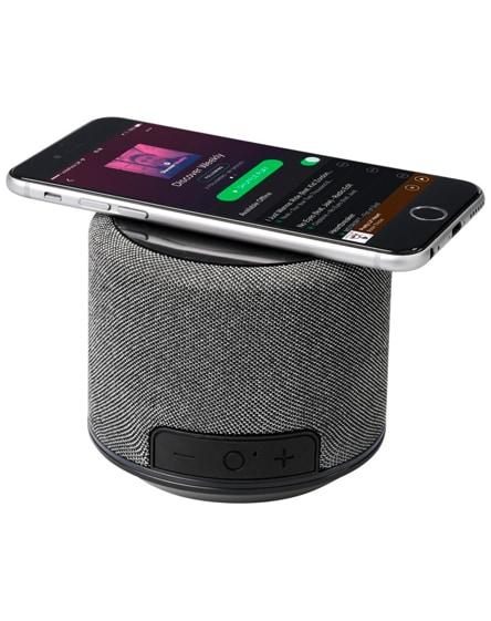 branded fiber wireless charging bluetooth speaker