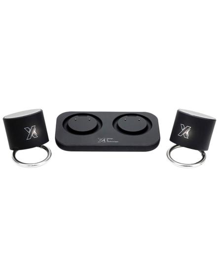 branded scx.design s40 light-up dual stereo speaker station