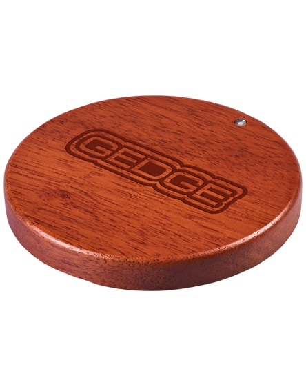 branded bora wooden wireless charging pad