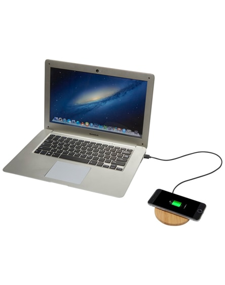 branded essence bamboo wireless charging pad