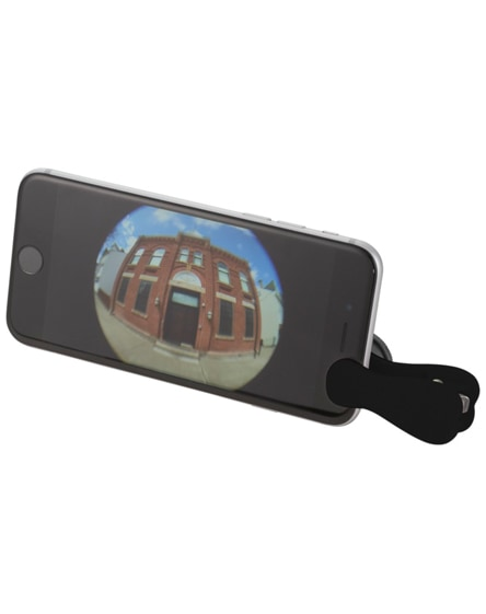 branded fish-eye smartphone camera lens with clip