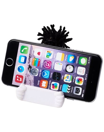 branded moptopper phone stand and stress reliever