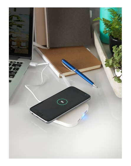 branded ozone wireless charging pad with dual outputs