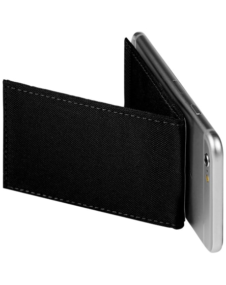 branded pose rfid phone wallet with stand