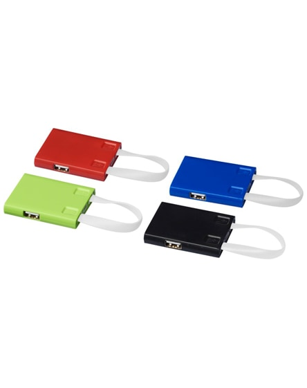 branded revere 3-port usb hub with 3-in-1 cable