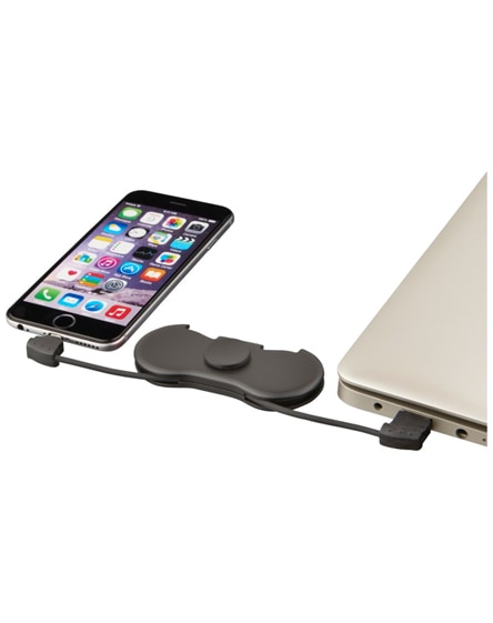 branded spin-it charging cable widget