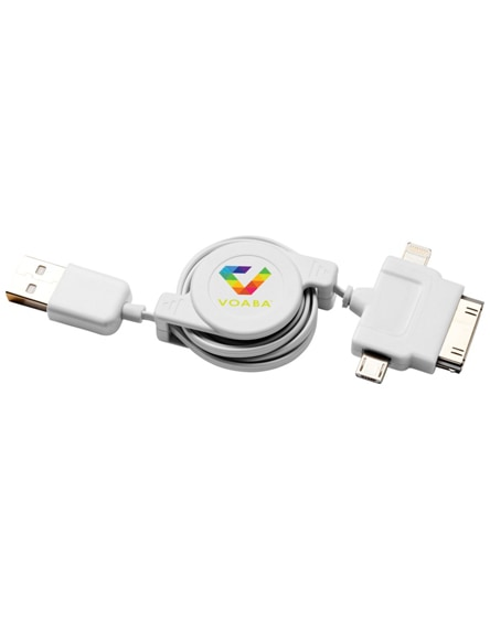 branded teather 3-in-1 charging cable