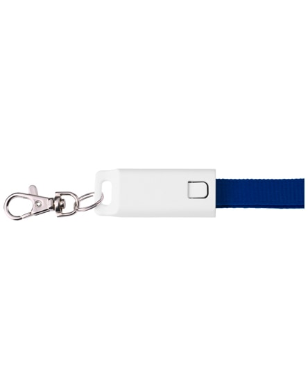 branded trace 3-in-1 charging cable with lanyard