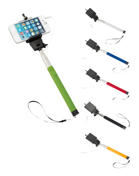 branded wire extendable selfie stick