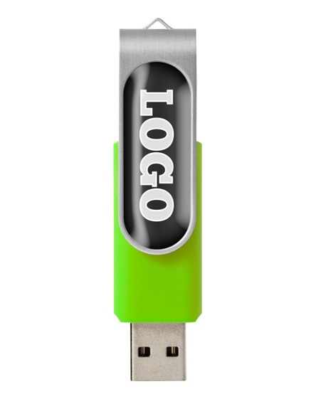 branded rotate-doming 4gb usb flash drive