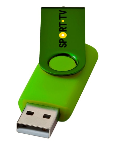branded rotate-metallic 2gb usb flash drive