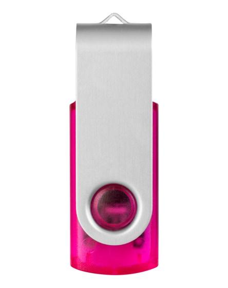 branded rotate-translucent 4gb usb flash drive