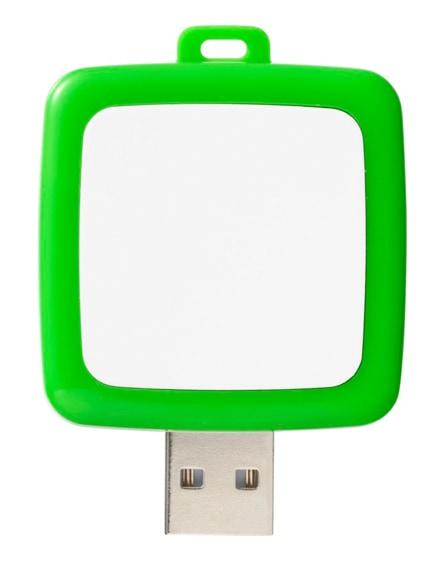 branded rotating square usb