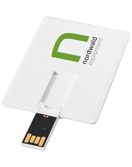 branded slim card-shaped 2gb usb flash drive