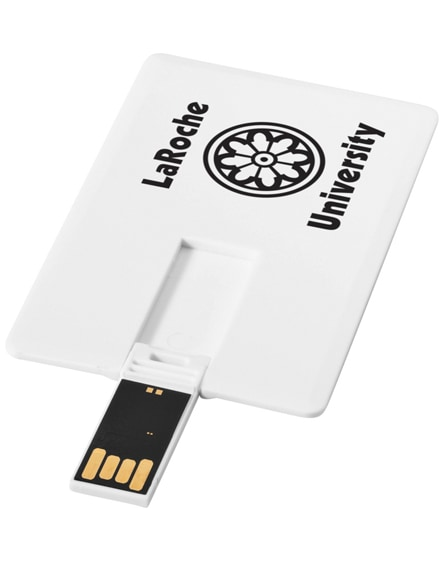 branded slim card-shaped 4gb usb flash drive