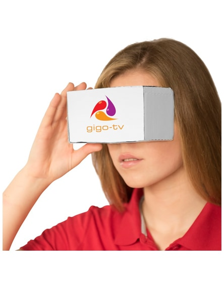 branded veracity cardboard virtual reality glasses