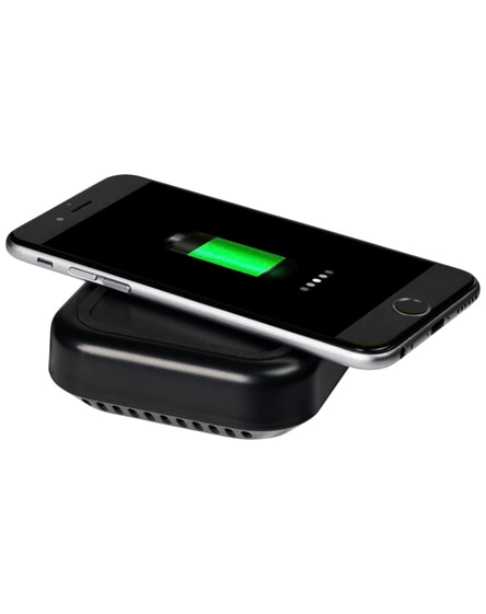branded coast bluetooth speaker and wireless charging pad