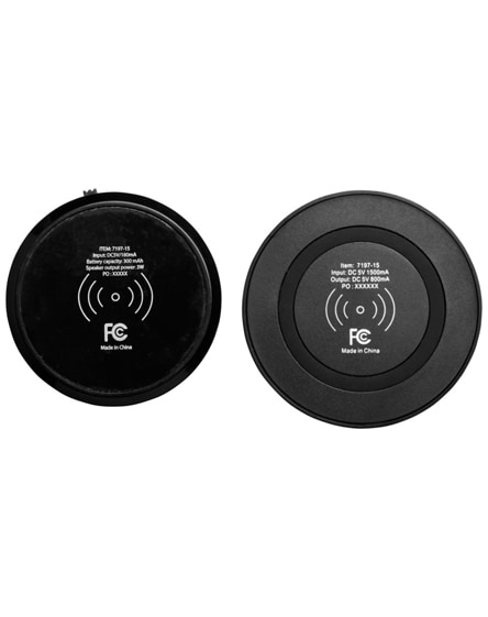 branded cosmic bluetooth speaker and wireless charging pad