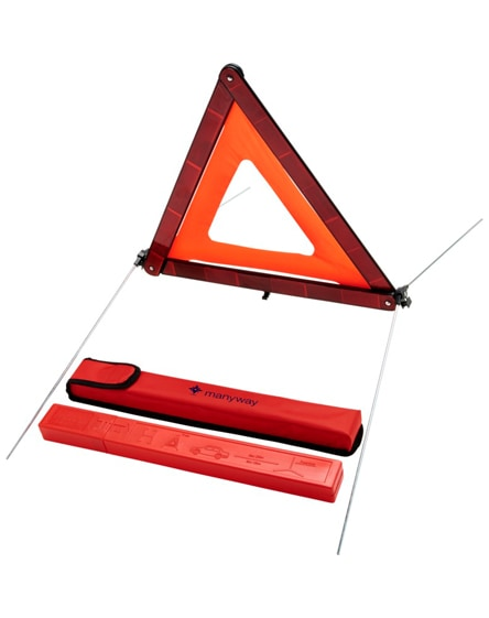 branded carl safety triangle in storage pouch