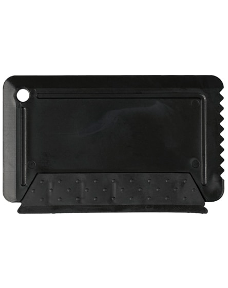 branded freeze credit card sized ice scraper with rubber