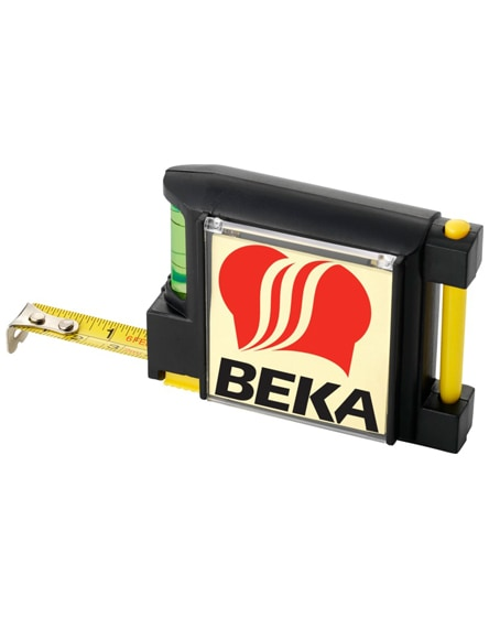 branded dunk 2 metre measuring tape with leveller