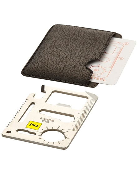 branded saki 15-function pocket tool card