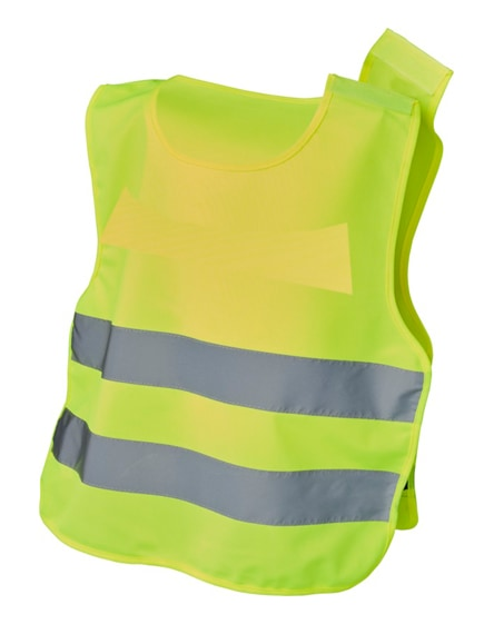 branded marie xs safety vest with hook&loop for kids age 7-12